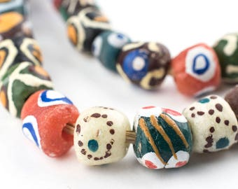 Ghana Mixed Krobo Powder Glass Beads - Round (KRB-RND-MIX-248)