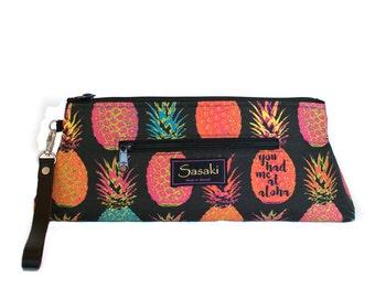 Pineapple - Clutch Wristlet - You had me at Aloha Purse