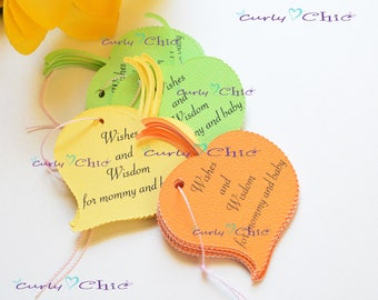 "48 Personalized Leaf Tags 3.25"" -Custom Leaf Tags -Print Autumn Leaf Labels -Cardstock Leaf Tags -Paper Labels -Autumn Labels -Leaf Labels"
