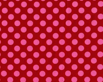 1 yard - Ta dot in Berry, Michael Miller Fabrics