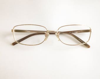 Vintage 1990's Hugo Boss Gold Plated Eyeglasses