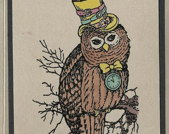 Watchin' Owl-choice of Color and Card Type