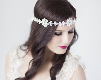 Odessa bridal halo headdress