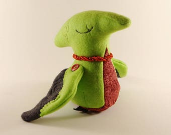 Fairydactyl - Redbud - OOAK Dinosaur Plush
