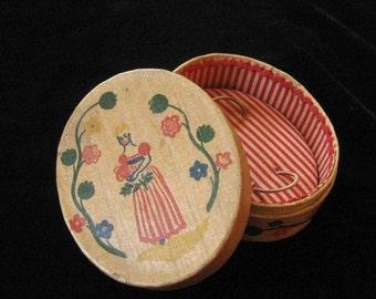 "Shulton ""Early American"" Old Spice Balsa Wood Perfume Box, 1930's"