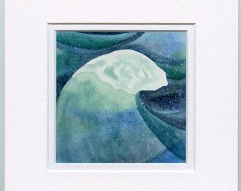 Sea Spray, original watercolor