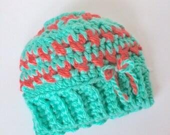 Messy Bun Beanie - Pony Tail Beanie - Ponytail Beanie - Bun Hat Knitted - Messy Hair Hat - Messy Bun Beanie Hat - Crochet Messy Bun Hat