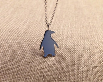 Penguin Necklace, Penguin Jewelry, Sterling Silver Penguin Necklace, Penguin Necklace Silver, Penguin Gift, Animal Necklace, Gift For Her