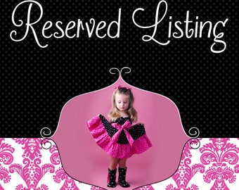 Reserved Listing for Sarah Hatoum