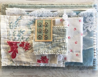Vintage french fabrics, blanket- packet of possibilities,