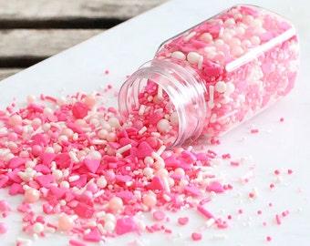 Sprinklefetti Pink Sprinkles Mix, Ombre Pink Sprinkles, White Sprinkles, Sparkling Sugar, Mini Sugar Pearls, Nonpareil, Cupcake Sprinkles