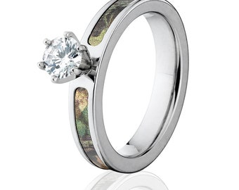 Camouflage Engagement Ring Custom Wedding Ring New Break Up Mossy Oak Camo Wedding Ring Camo Ring Camo Jewelry 4F12G5RCTW_NBU