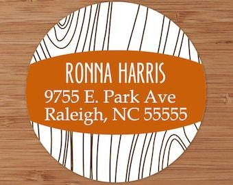 Faux Bois (Wood Grain) - Custom Address Labels or Stickers