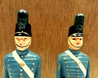 Two West Point Military Academy NY Souvenir Toy Soldier Figurines