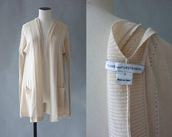 Diane Von Furstenberg wool and silk cardigan | 1990's by Cubevintage | small
