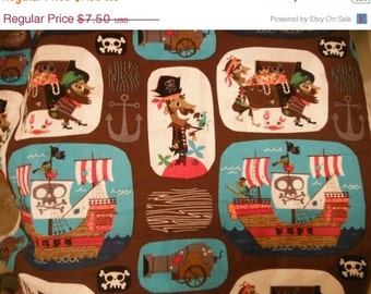 Pirate Fabric --HARD Find -- Halloween Fabric -- 40-70% off Patterns n Books SALE