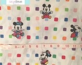Vintage Baby Mickey and Minnie Crib Sheet