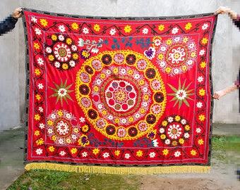 Magnificent workmanship of Uzbek vintage embroidery. Uzbekistan suzani, handmade embroidery, suzani fabric, suzani, bohemian suzani decor