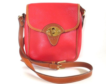 Vintage RARE Red Dooney and Bourke Cavalry Scout Bag // Made in USA