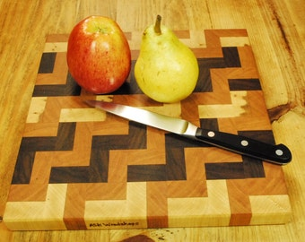 For the Home Chef, Handcrafted Kitchen Board,  End Grain Butcher Block Board, Cheese Board, Fruit Death Table, By ASH Woodshops