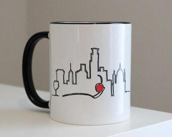 Minneapolis Minnesota Skyline Home Love: Coffee Mug