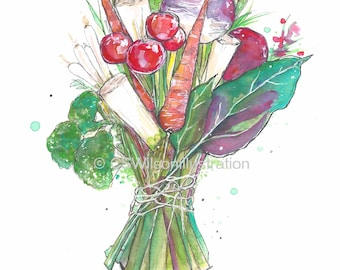 The Vegan Bouquet - Fine Art Print