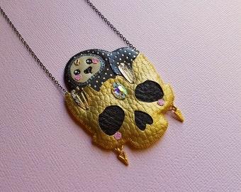 Sloth Skull Necklace