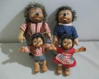 Vintage Steiff Hedgehog Family