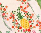 Monogrammed Pineapple Tea Towel