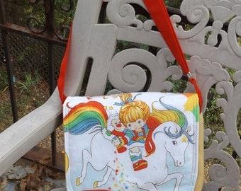 Rainbow Brite  Messenger Bag  / Hip Bag  Medium Size Crossbody