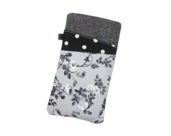 Black Rose Phone Sleeve, S8 Plus Case, Nexus 6P Case, Galaxy S7 Edge, LG G6, Moto G5, Pixel XL Case, Oneplus 3T, Samsung S8, Women's Gift