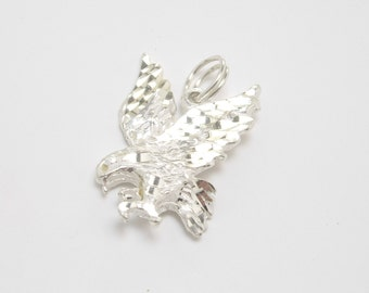 Sterling Silver Eagle Charm, Sterling Silver Eagle Pendant, Bird Charm, Eagle Charm, Sterling Silver Charm