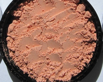 Mineral Powder Blush/Cruelty-free/Vegan Semi-Matte Loose Mineral Powder Blush/Eyeshadow-Apricot