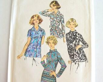 Vintage 1970's Simplicity Women's Set of Blouses Size 42 UNCUT