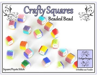 Beading Pattern, Tutorial, Beaded bead - CRAFT SQUARES