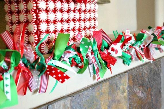 Christmas Ribbon Garlands Christmas Decor Christmas Tree