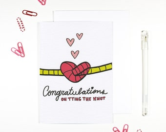 Congratulations On Tying The Knot Wedding Card Marriage