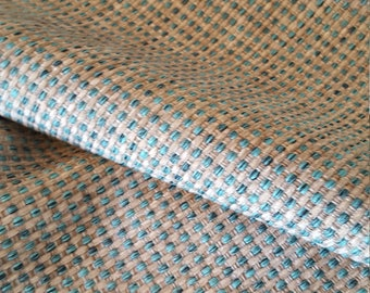 Aqua Teal GRAY WOVEN CHENILLE Upholstery Fabric, 16-17-42-0317