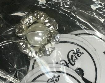 Pearl Rhinestone Sprays  2dz clusters/216 pieces  NWT by His & Hers Bridal item