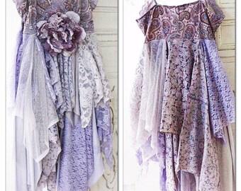 SALE S Free people cami Sundress, Gypsy soul sundress Boho style slip dress, Bohemian Gypsy dresses for spring, lilac, True rebel clothing