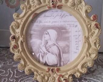 french market virgin mary religious petite frame