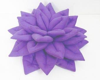 Lotus Meditation pillow-Yoga Props-Zafu-Light Purple Pillow-Lotus Flower-Velvet Pillow-Meditation Cushion-Yoga Pillow-Home Decor-Relaxation