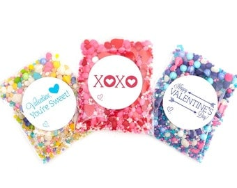 12 Valentine Variety Packets Candyfetti™ Candy Confetti Sprinkles