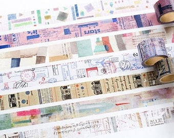 New-Japanese Washi Masking Tape - Little Path / Chamil Garden Vol.8 for journaling, packaging, scrapbooking, collage