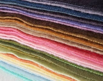Limited Stock - Hand Dyed Wool Sheets (priced per sheet)