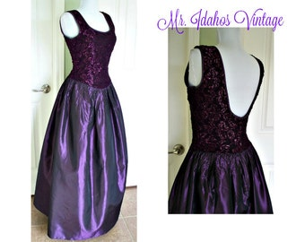 Vintage 90s Gunne Sax by Jessica McClintock Evening gown, ladies gown, prom gown, ball gown, party prom dress