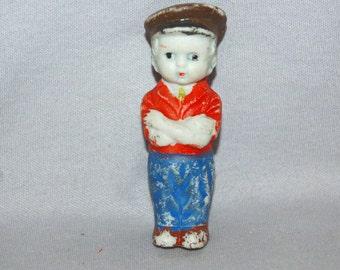 Vintage / Bisque / Doll / Boy / penny doll / frozen charlotte / vintage dolls