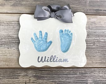 Baby Handprint - Ceramic Handprints - Baby Handprint Mold - Baby Footprint - Baby Handprint Kit - Baby Footprint Art - Baby Footprint Kit