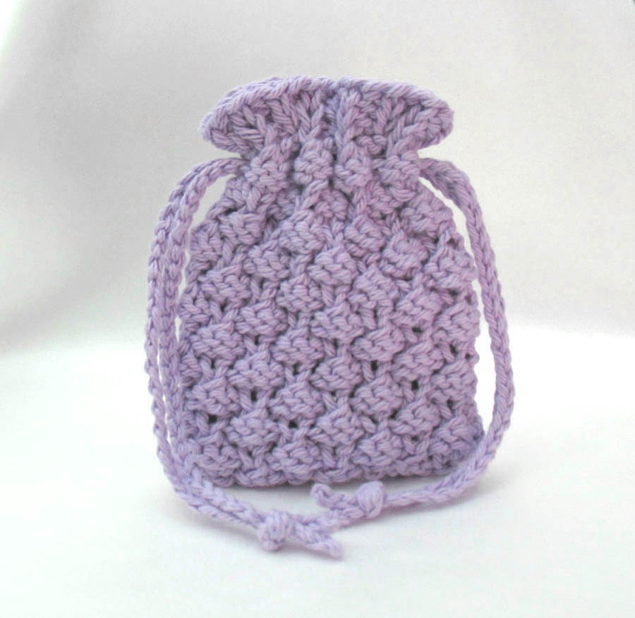 Knitted Soap Holder Pattern : Knitted Soap Bag Soap Saver Soap Pouch Small by SticksNStonesGifts