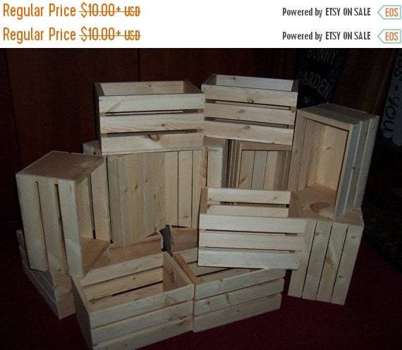on sale rustic wooden crates by. Black Bedroom Furniture Sets. Home Design Ideas
